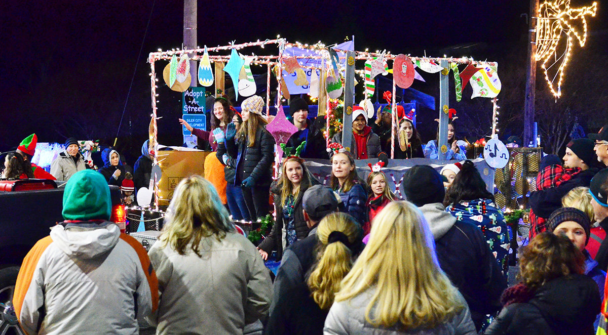 It was wall to wall people at Siler City's Christmas parade