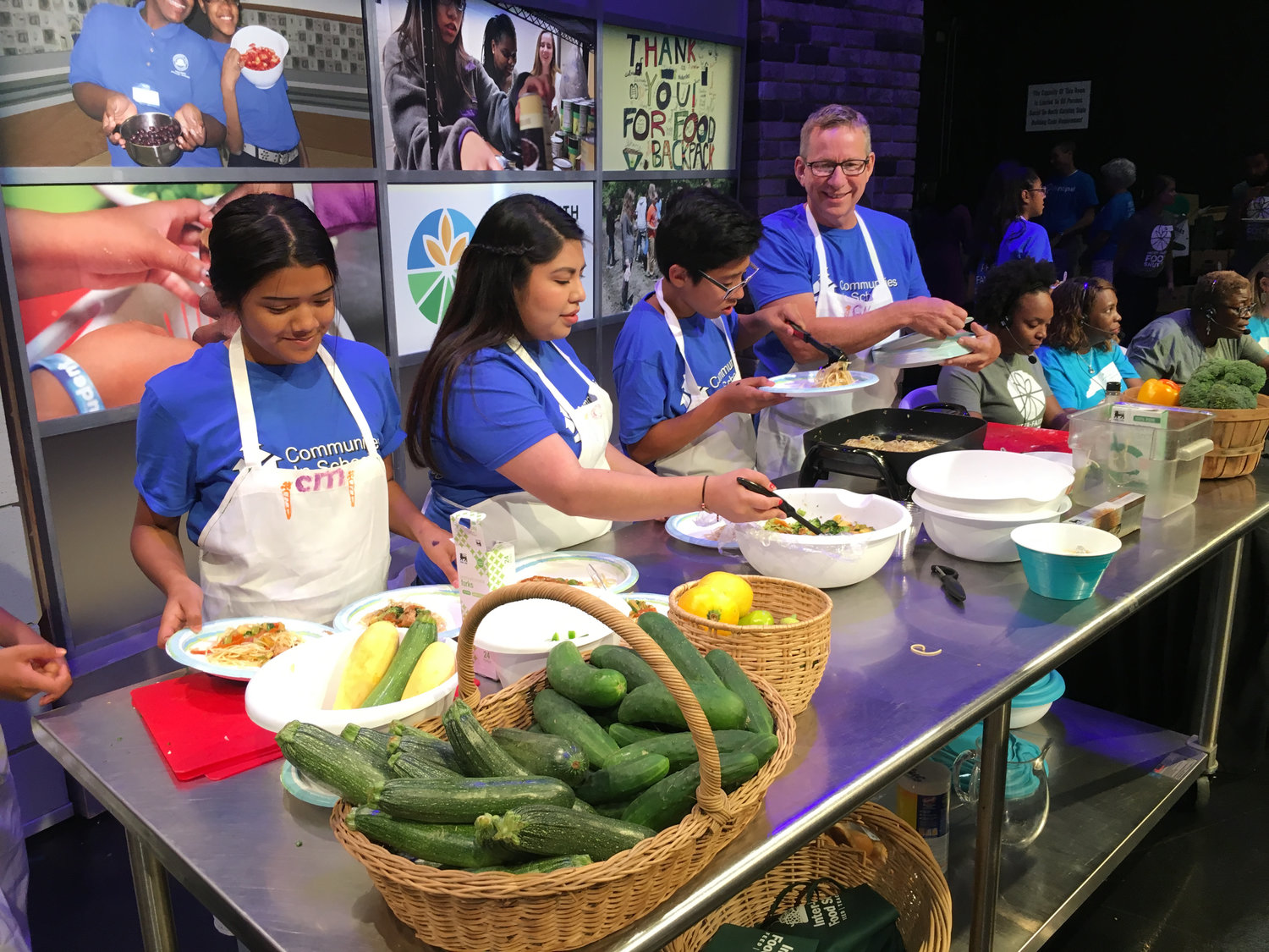 CIS staff and youth are on TV as WRAL raises money for Interfaith Food Shuttle, a partner with Cooking Matters afterschool program at Chatham Middle School.