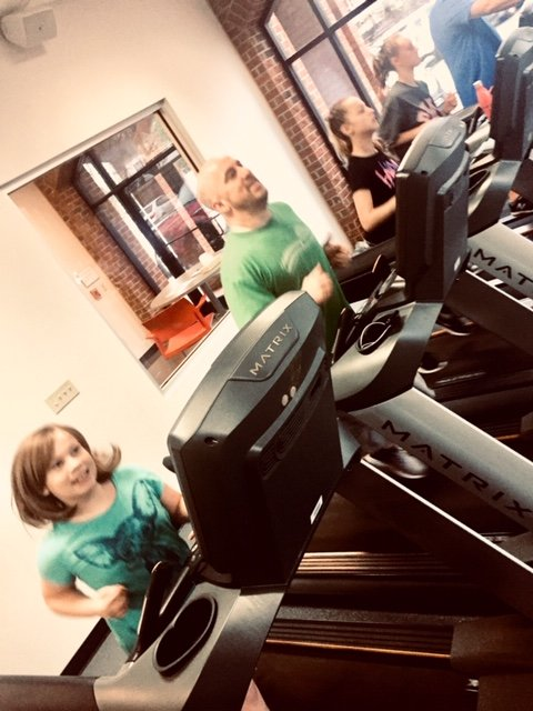 The Comellas take the idea of a healthy family to heart. The family has been working out together at the Chatham County YMCA every morning for the past two years, showing up at 6 a.m. to work out before heading to school.