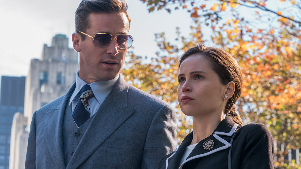 Armie Hammer stars as Marty Ginsburg and Felicity Jones as Ruth Bader Ginsburg star in Mimi Leder's ON THE BASIS OF SEX, a Focus Features release.