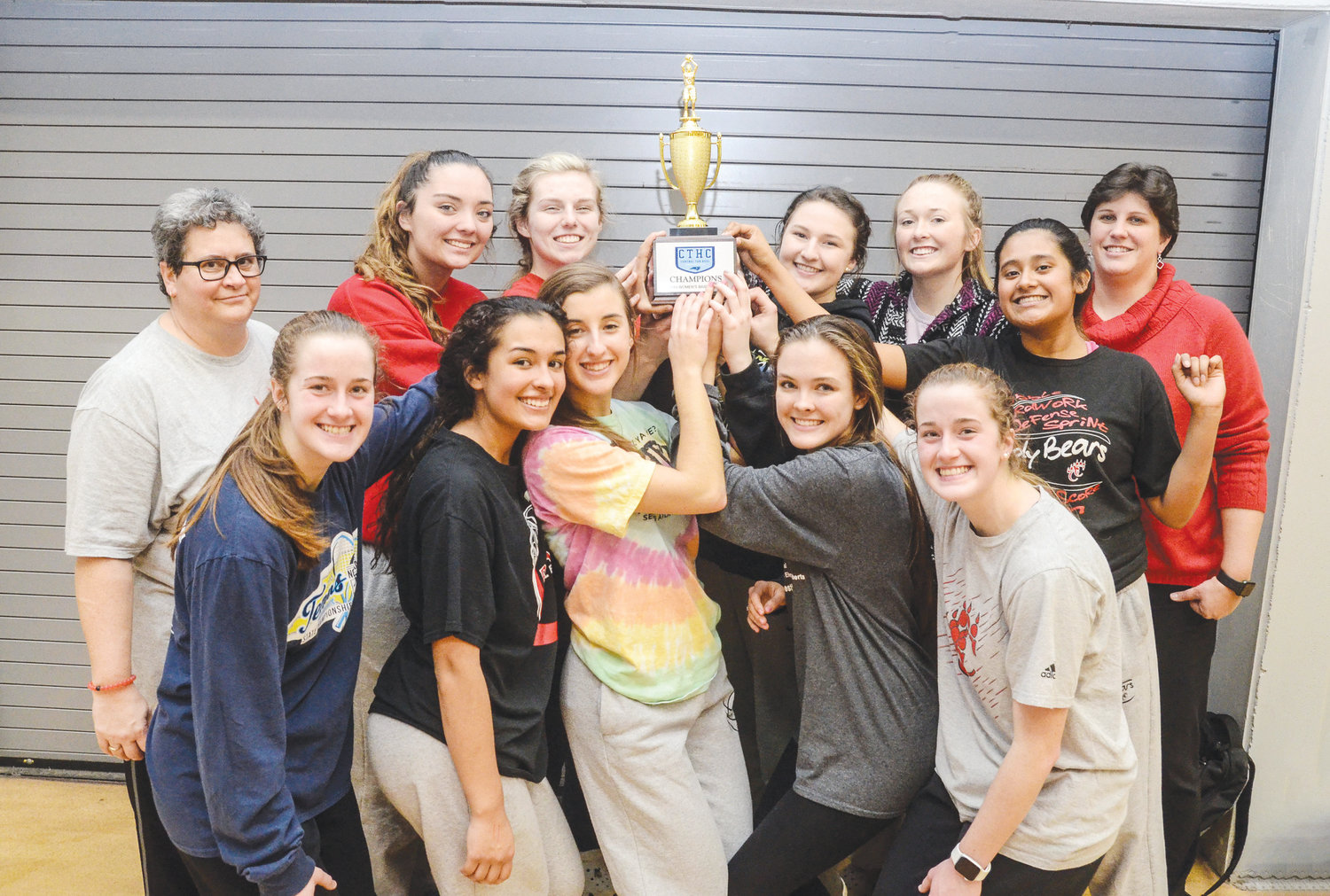 It was celebration time for the Chatham Central girl's basketball team on Friday night in Durham as the Lady Bears captured their second consecutive 1A Central Tar Heel Confernce regular season title with a convincing 70-41 victory over Research Triangle.