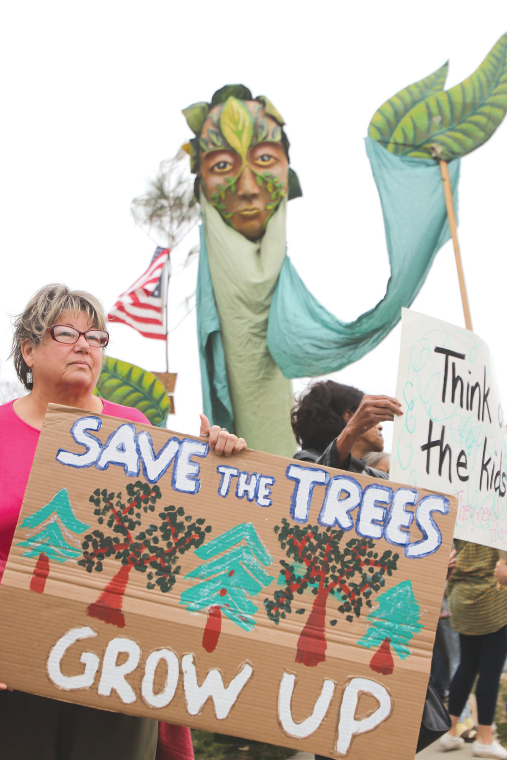 Megan Lynch, who has lived in Chatham County since the 80s, attends the Procession of Trees protest. 'I remember how green and lush (Chatham County) was,' she said. 'And I am an environmentalist, so I know the importance of trees to our everyday life.'