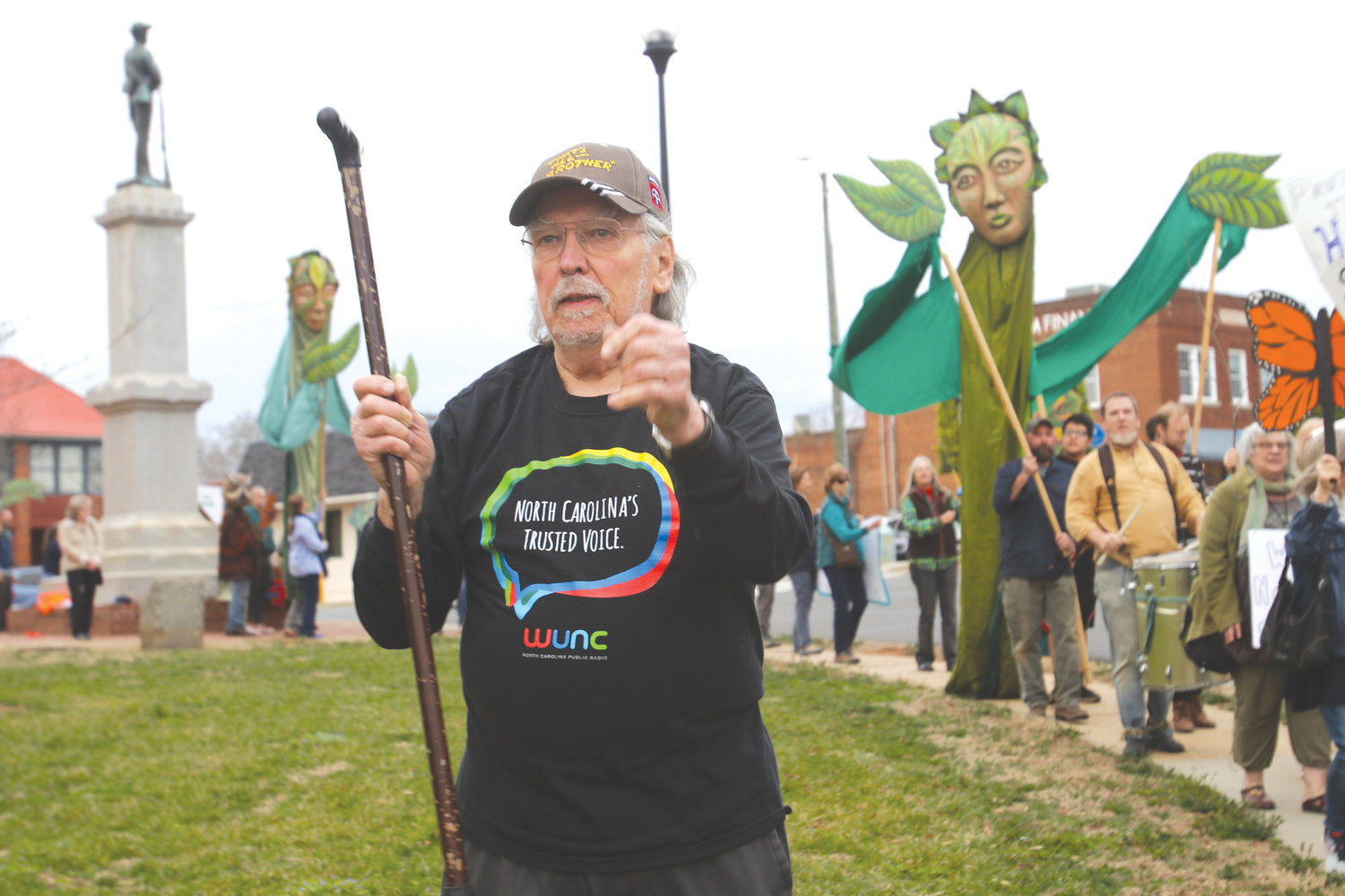 Efrain Ramirez was a part of the contingent at the 'Procession of Trees' protest at the Chatham County Courthouse.