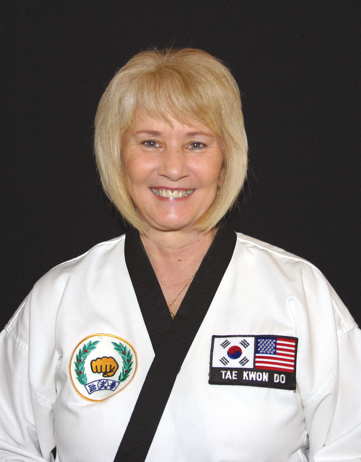 Master Peggy Jolly, is a 7th degree black belt in the Tae Kwon Do discipline.  She began her training in the 1970's as one of very few women in martial arts.