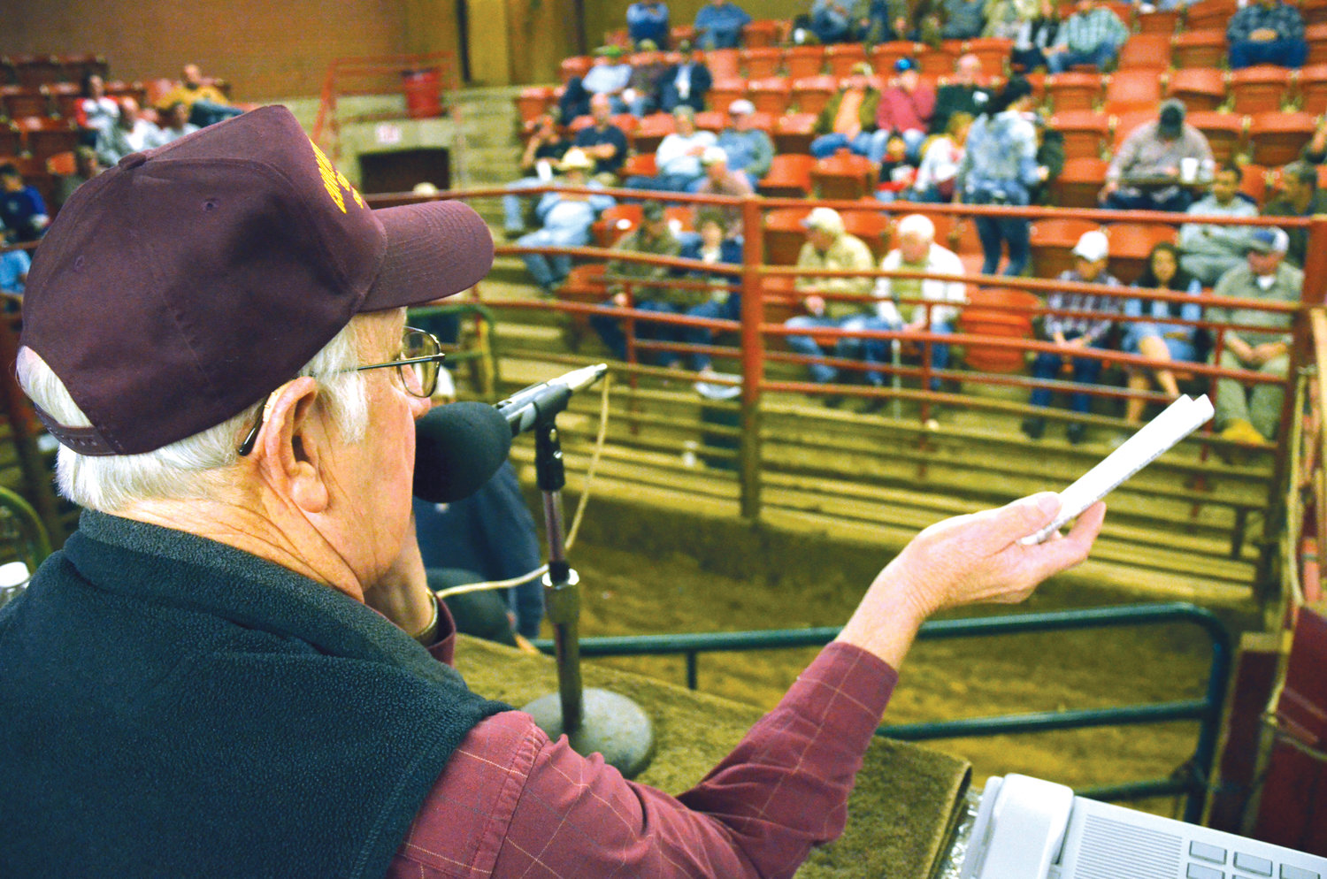 "Kenneth Greene, auctioneer at the Carolina Stockyards, has been doing this for 30 years. ""I just grew up in it,"" he said."
