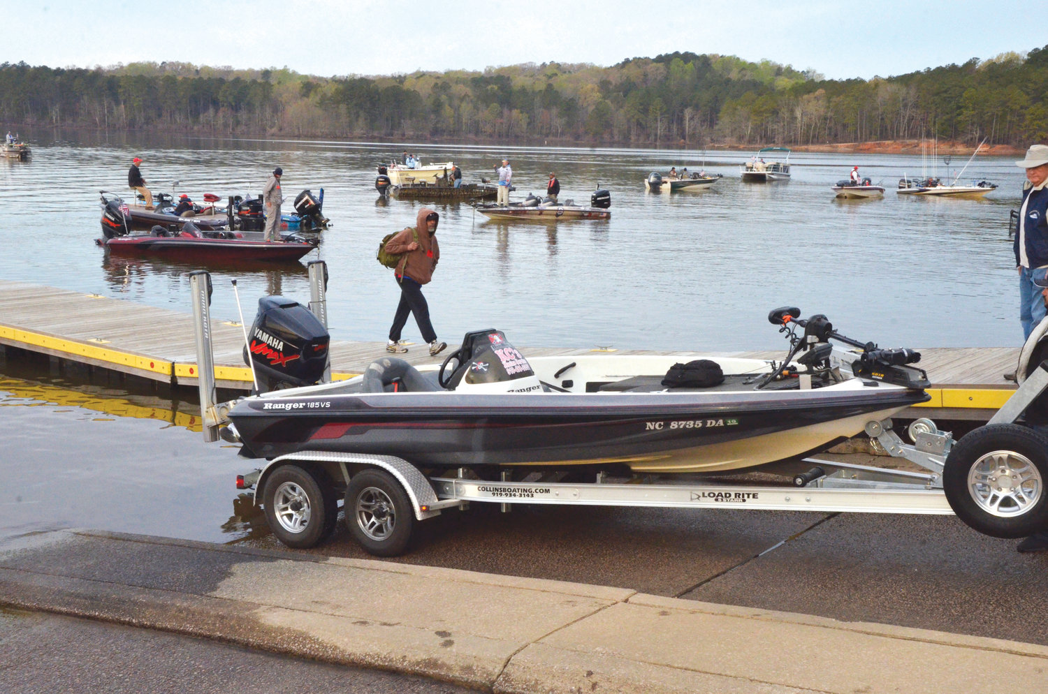 The boat ramps at Jordan Lake were busy last Thursday morning as fisherman take part in the Jordan Lake Top Shelf Fishin' Festival, sponsored by Operation North State.