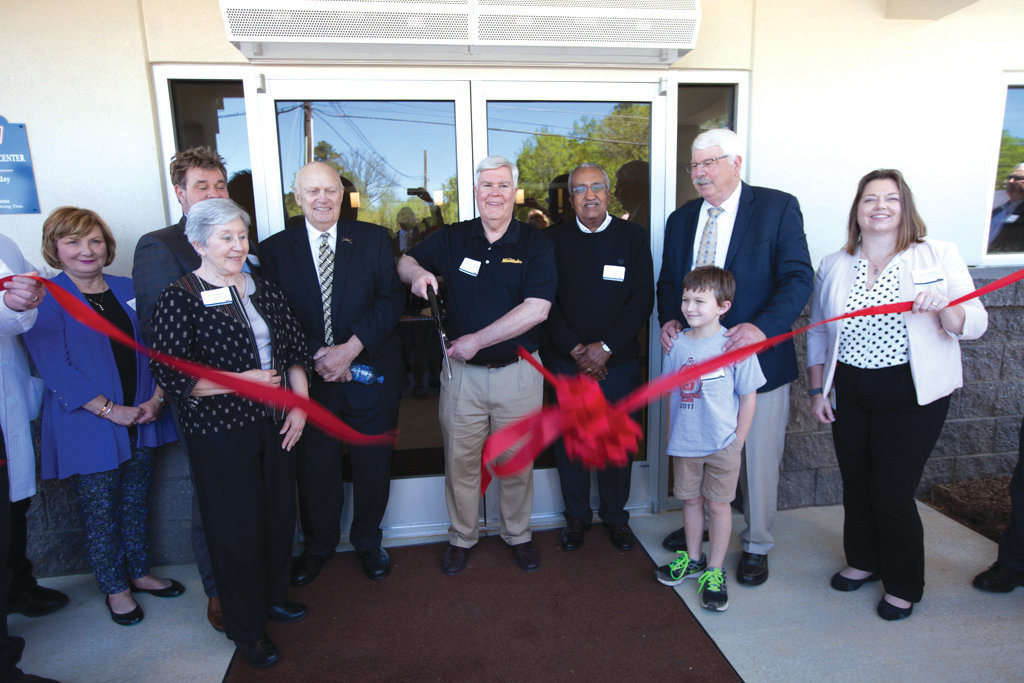 The official ribbon cutting for the Mountaire plant and the Health and Wellness Center was held April 16, with Mountaire staff and executives, and government officials from Siler City and the state of North Carolina participating.
