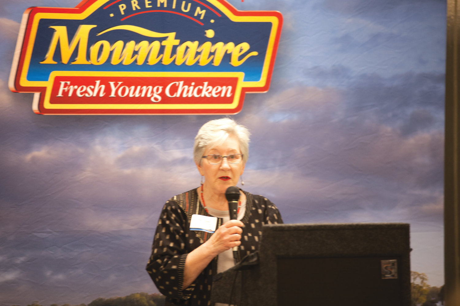 "County Commisioner Diana Hales thanked Mountaire Farms for the ""dignity of work"" that will follow from the expansion of the plant."