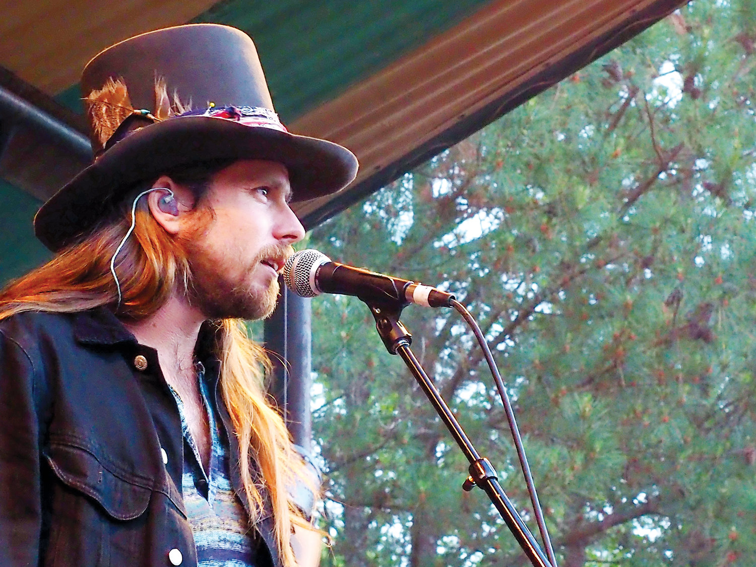 Lukas Nelson was the headliner for Shakori, playing to a huge crowd on Thursday night.