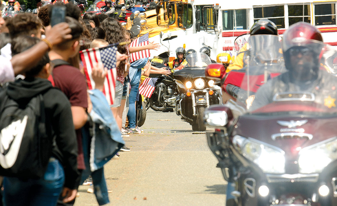 Run for the Wall, an annual pilgrimage of motorcycle riders from California to the Vietnam Memorial, will again convene in Siler City on their journey. They will make a stop at Chatham Middle for a brief presentation.