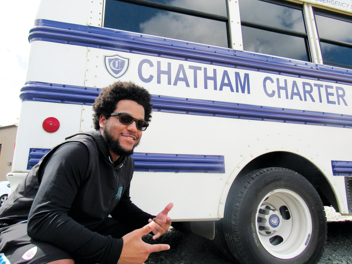 Chatham Charter senior A.J. Alston is begin classes at Johnson & Wales University in Charlotte in the fall to major in Sport & Event Management, and hopefully one day work for the Carolina Panthers.