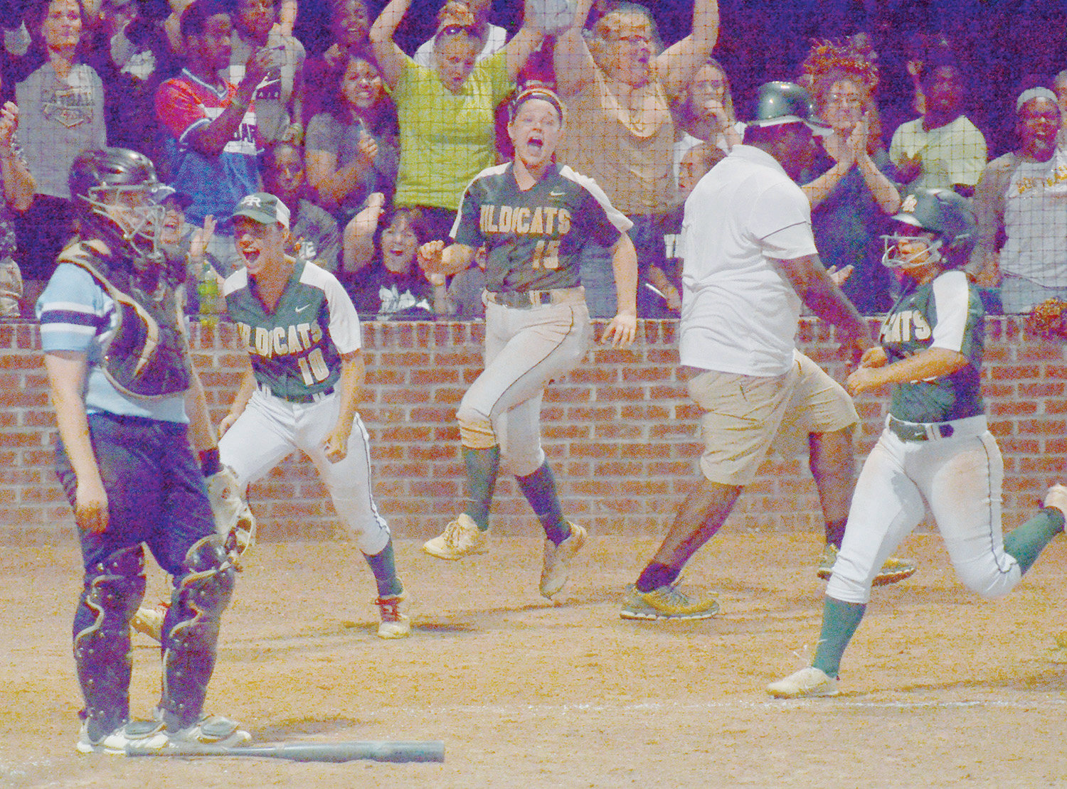 It was celebration time in Ramseur on Thursday evening as Eastern Randolph used three walk off runs to stun reigning state champion South Granville 9-8 to even the best-of-3 Eastern Finals series up at one apiece.