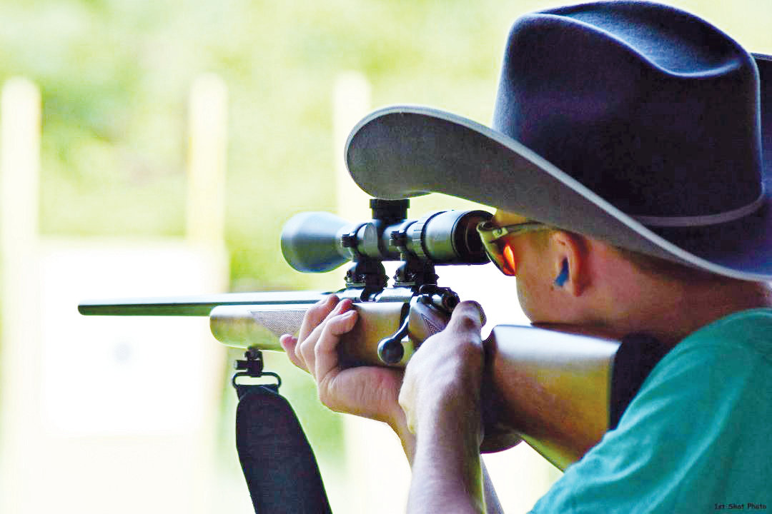Local sharp shooter Luke Barker aims his rifle at the target. Barker will be on the North Carolina 4-H team representing the Tar Heel state at the National Shooting Sports Championships in Grand Island, Nebraska.