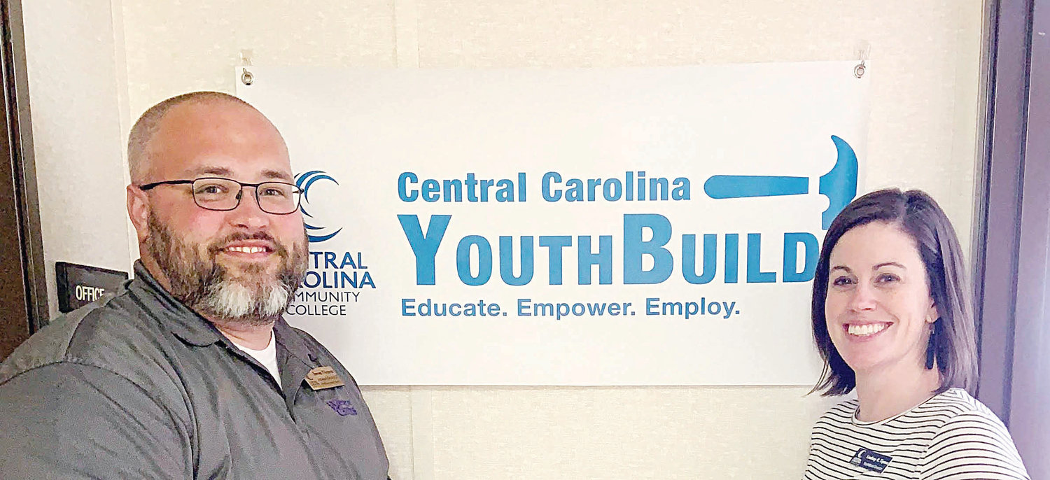 James Thomas (left) is Assistant Director and Lindsay Tipton (right) is Director of the YouthBuild program at Central Carolina Community College.
