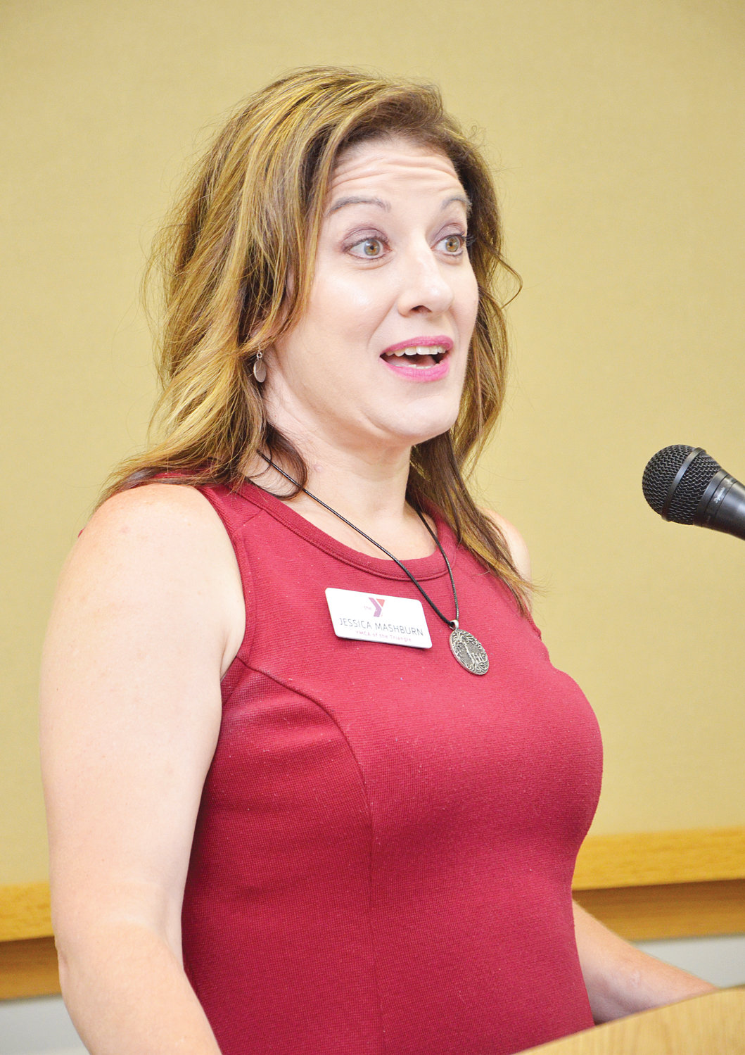 Guest speaker for the Leadership Chatham luncheon was Jessica Mashburn, from the YMCA of the Triangle. Mashburn's message stressed innovation, going beyond the known, and learning from failure.