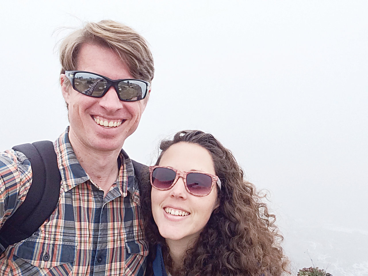 Shannon Culpepper and Scott Fister on a trip to California in 2018. The two were engaged last November.