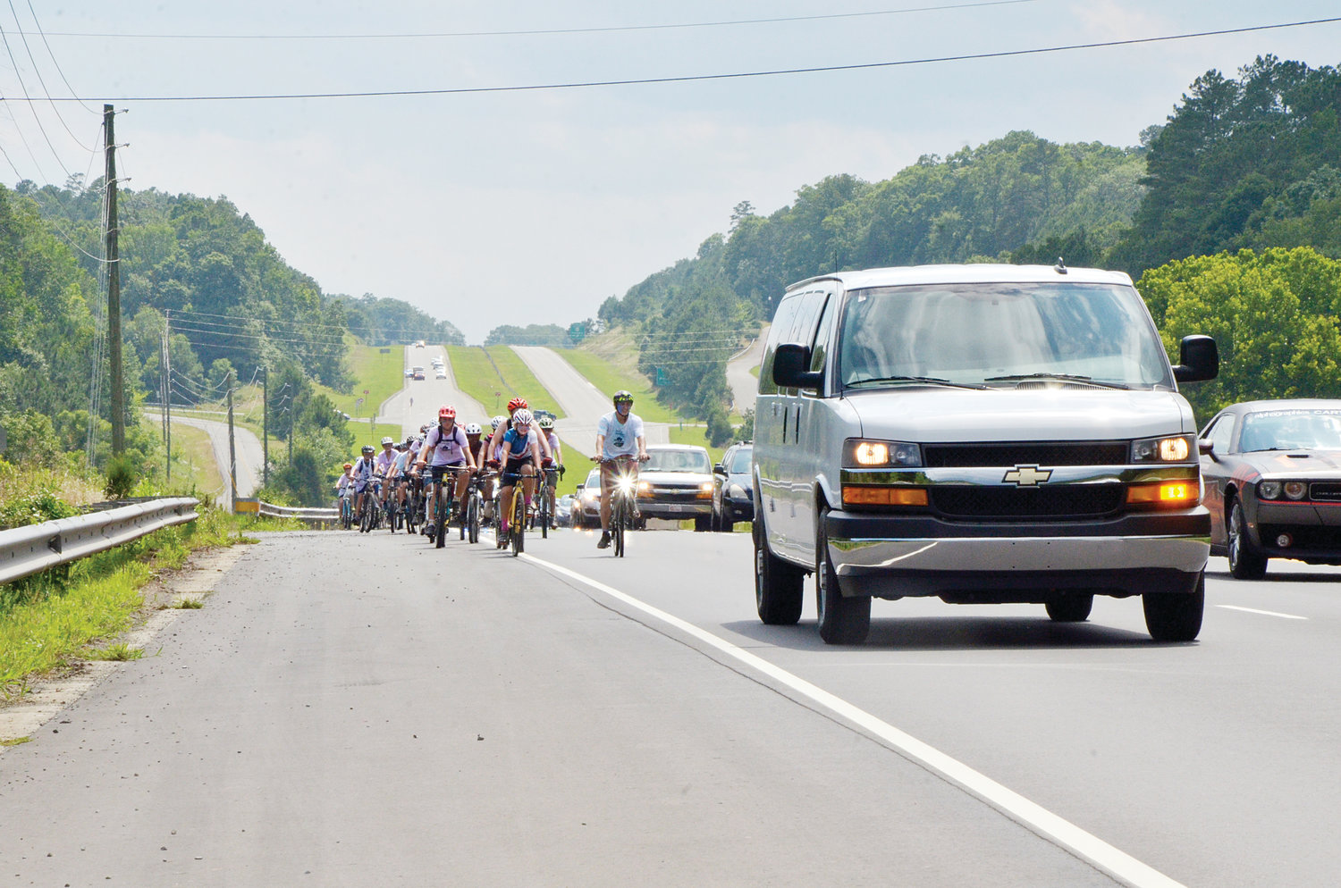 The Chatham County Sheriff's Office blocked traffic and kept a careful eye as the campers and leaders of Thursday's event as they travelled down U.S. 64. Stormy weather and traffic conditions were top concerns.