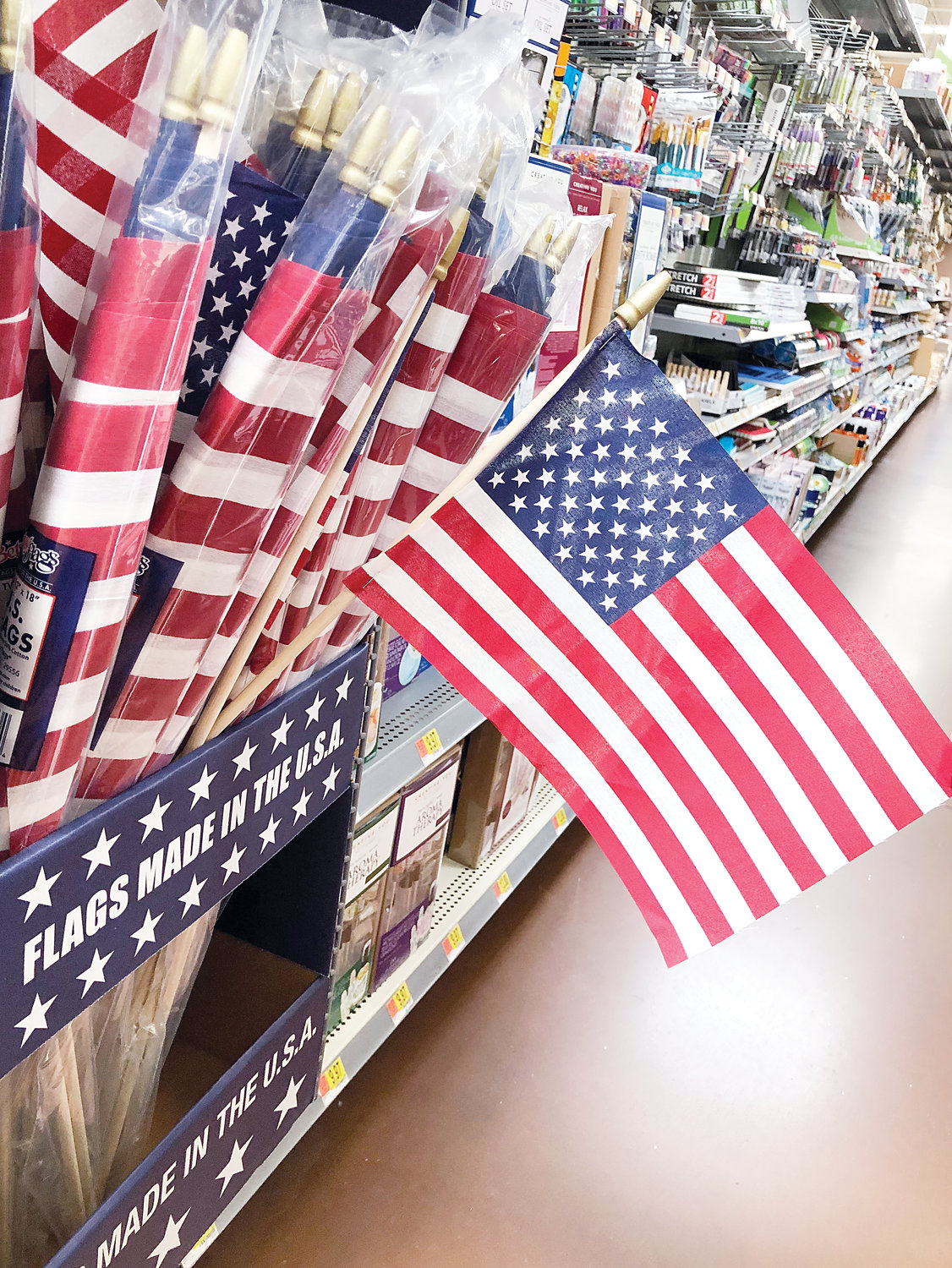 More than million U.S. flags are sold annually in the United States, according to the Flag Manufacturers Association of America.