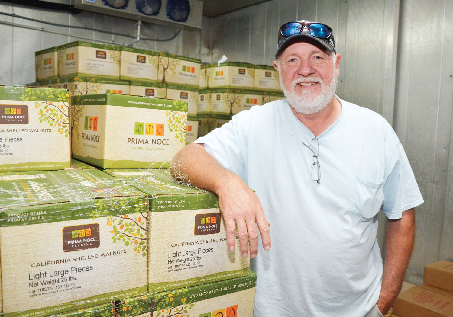 In the freezer room, Randy Scott, co-owner of Southern Supreme Fruitcake, has a large supply of nuts ready for their nutty-style fruitcake. The company has been in business since the mid-1980's, when Berta Lou made cakes in the kitchen oven.