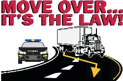 Move Over, a law in North Carolina since 2002, requires motorists change lanes or slow down when approaching any emergency vehicle on the side of a road.