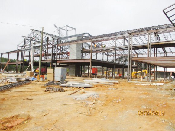 This is the current view of the front entrance of the future Seaforth High School in northeast Chatham County. This photo, along with others, was presented to the Chatham County Board of Education Monday night.