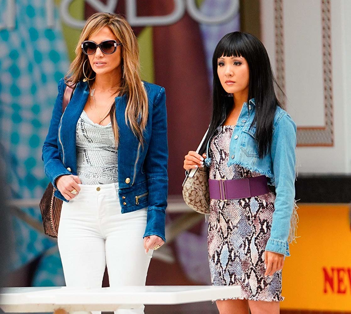 Jennifer Lopez and Constance Wu star in 'Hustlers.'
