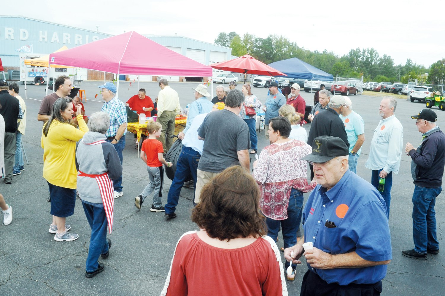 The crowd gathered for the Chatham Chili Challenge at Welford Harris Ford this Saturday. Guests were able to taste a variety of chili productions, using a variety of ingredients.