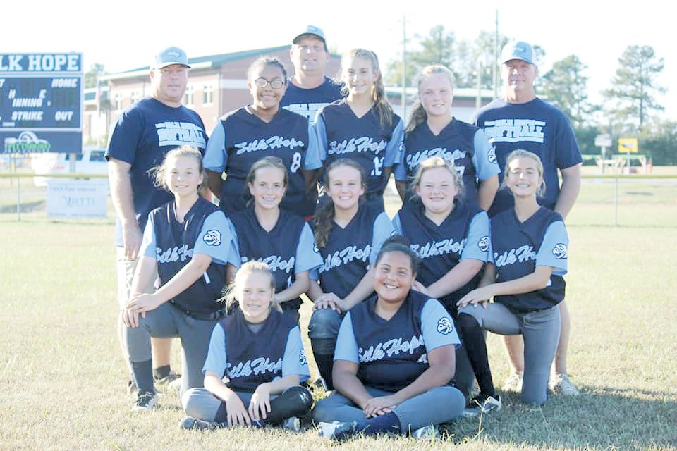 The Silk Hope Eagles captured regular season and tournament titles with a perfect 10-0 record this fall. The Lady Eagles outlasted a tough J.S. Waters squad 15-14 in the tournament championship last Thursday afternoon in Silk Hope.