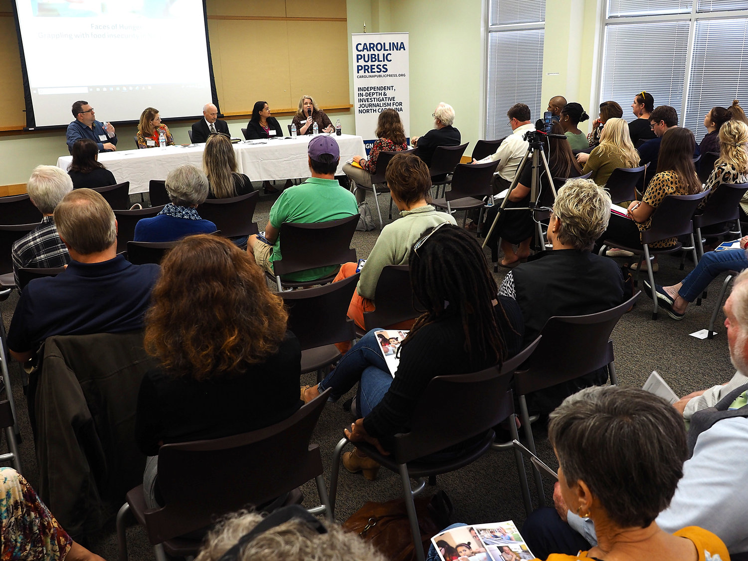The Faces of Hunger forum included a panel discussion and breakout sessions.