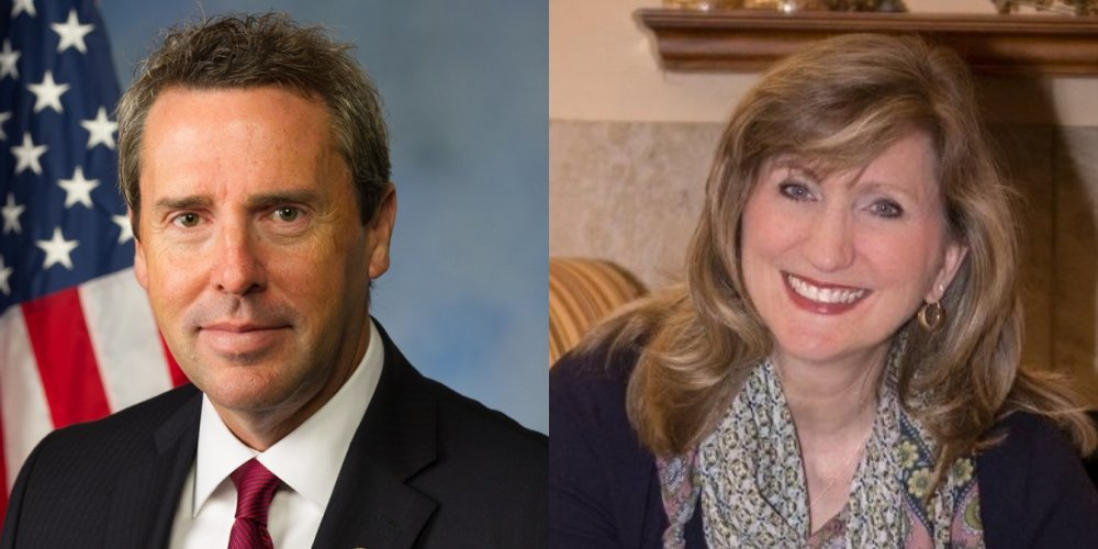 U.S. Rep. Mark Walker (R-N.C.) and Angela Flynn, a 2020 candidate for the U.S. House N.C. Sixth District, which Walker represents.