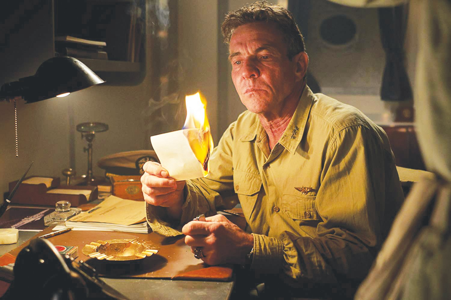 Dennis Quaid stars in 'Midway.'
