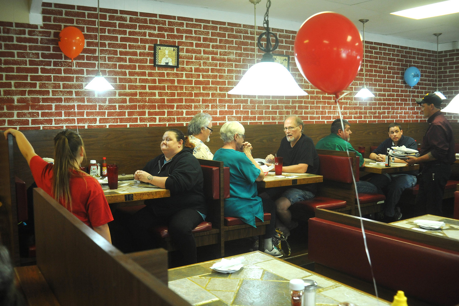 A new option for Italian food in Siler City.Grand opening celebration balloons fill the air at new restaurant Nerricio's last Tuesday, as patrons of the  restaurant enjoy a meal there. The menu offers traditional Italian fare, with subs and burgers, and all-day breakfast.