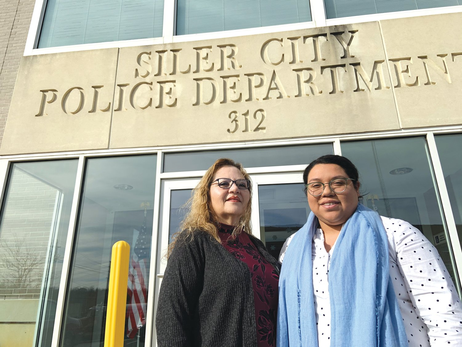Gloria Maldonado, left, of the Siler City Police Department and Edna Villasnor of Chatham County Court Programs operate a support group for Latina survivors of domestic violence.