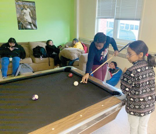 Once homework is finished club members at the Wren Family Center can play games and take part in a variety of other activities.