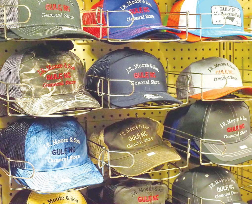 Customized store hats have recently become a best seller at the store, King-McDaniel said. She said some customers come in and buy one in every color.