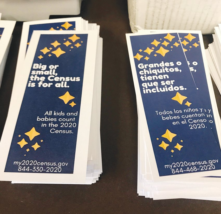 These census bookmarks help to promote participation. The deadline to pariticipate in the 2020 population count has been moved back to Oct. 31.