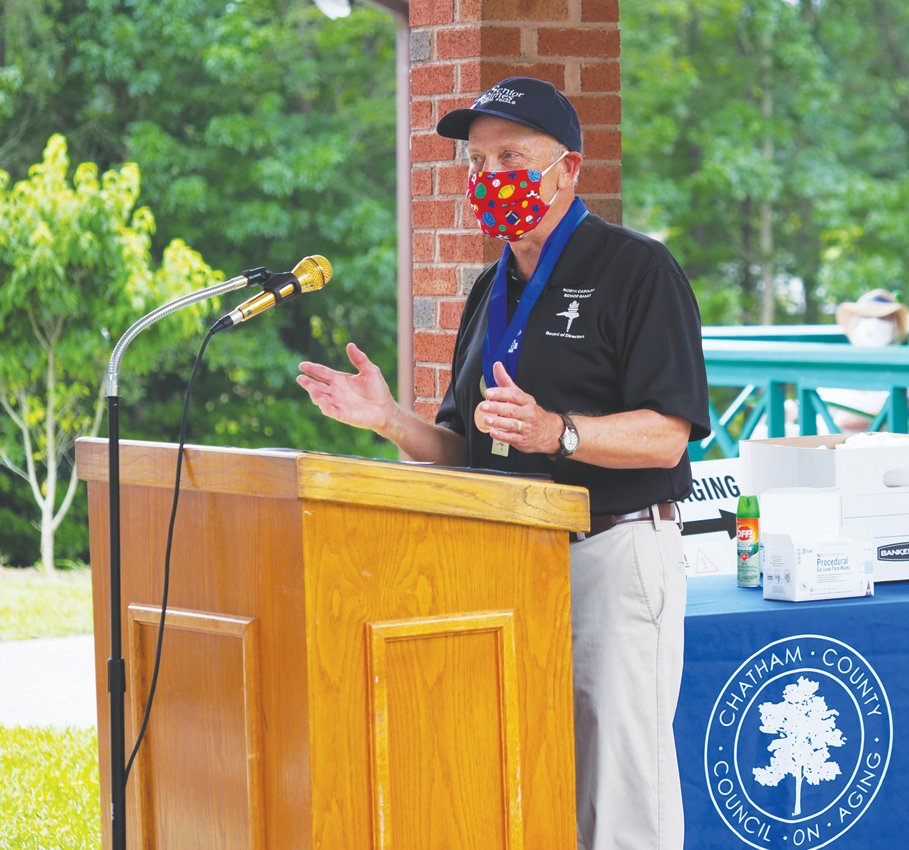 Speakers at the Chatham County Senior Games' second drive-by event included Dennis Streets, the Chatham Council on Aging's executive director.