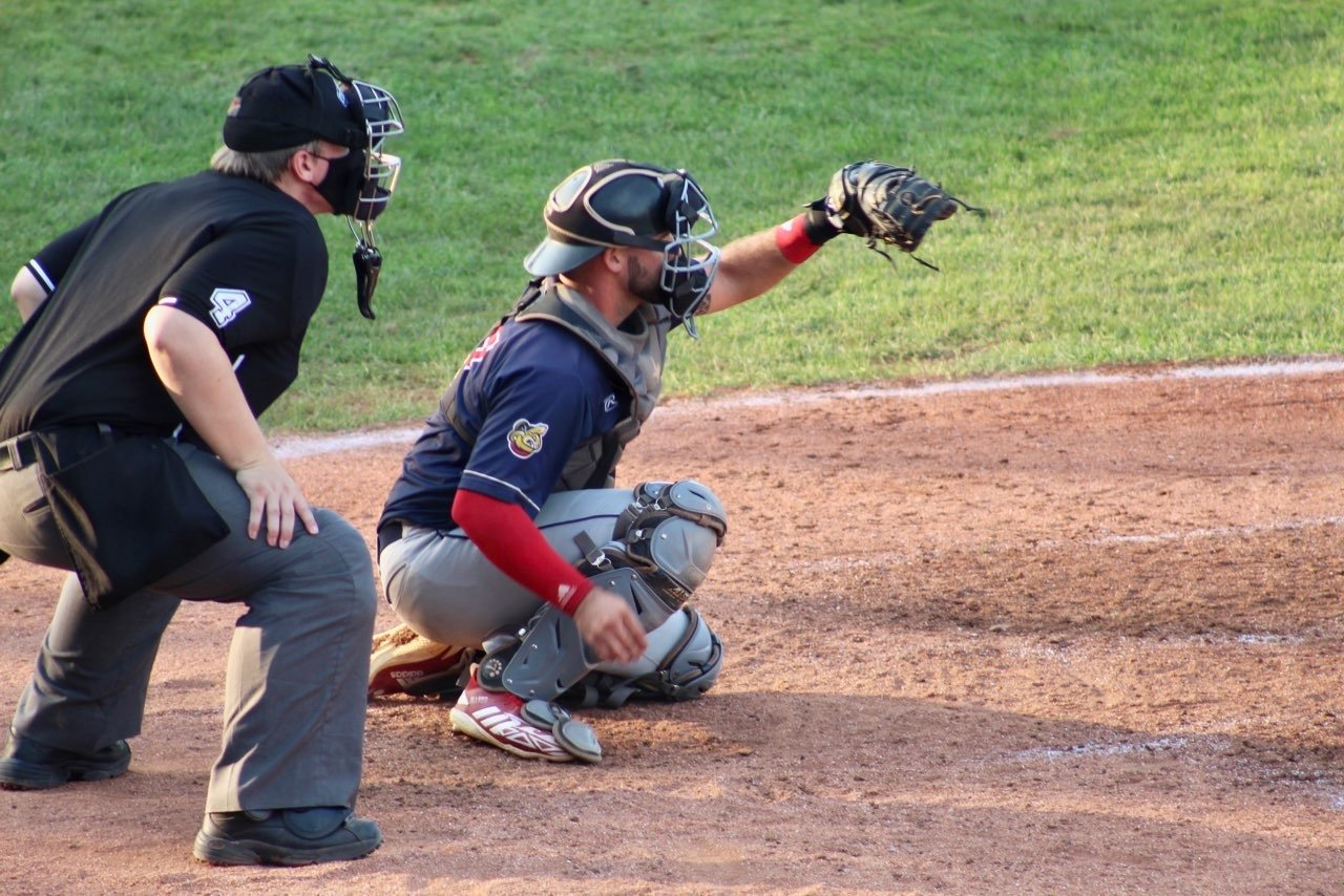 Alec Allred has shifted from a utility player to a catcher.