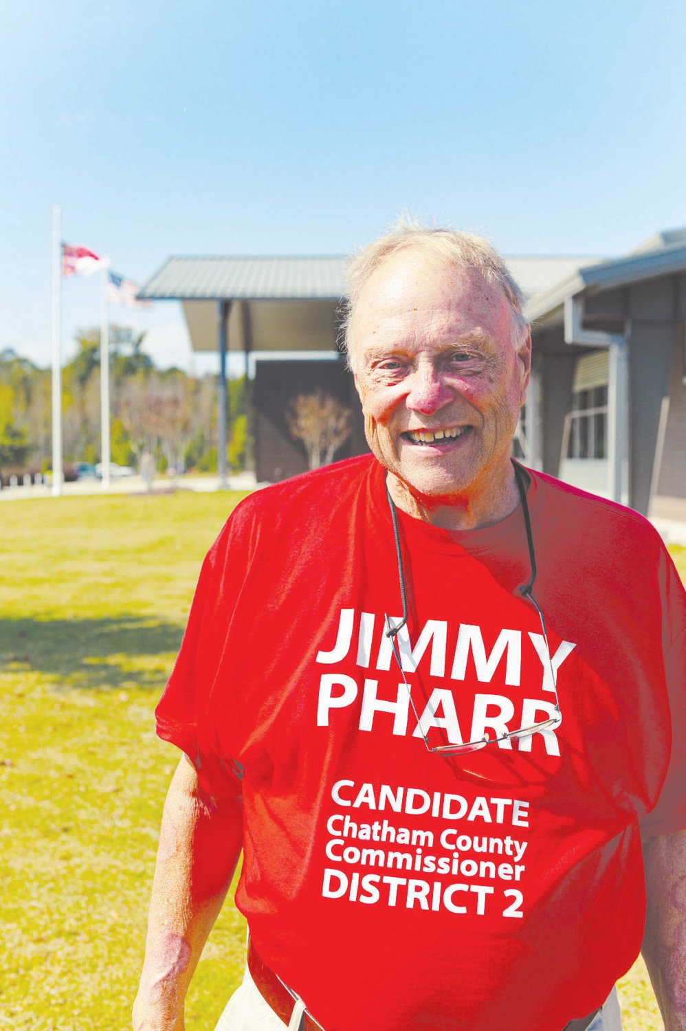 'It's been fun,' Commissioner candidate Jimmy Pharr said. 'People have been very nice, very respectful.'