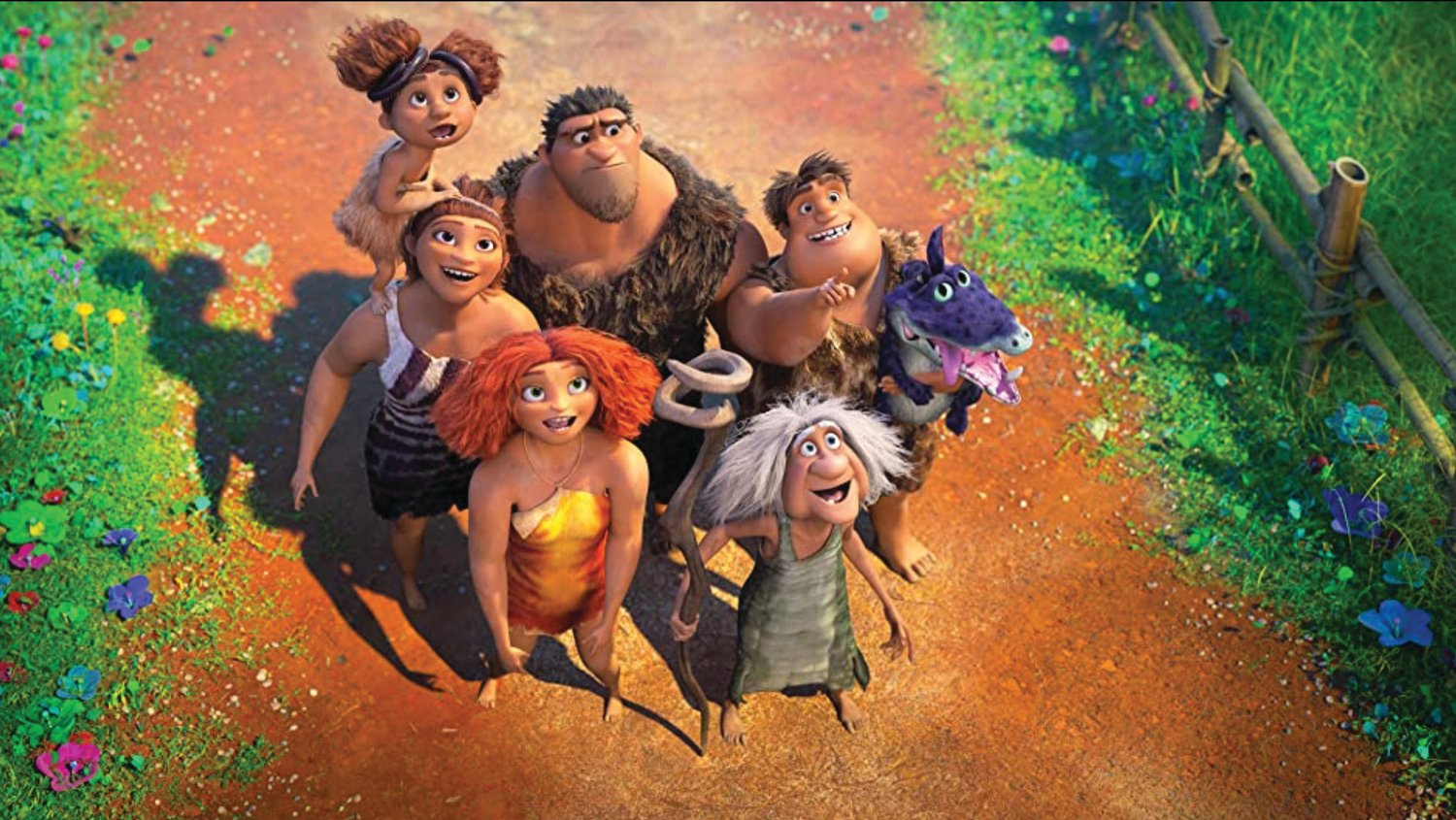 Ryan Reynolds, Emma Stone, Nicolas Cage, Catherine Keener, Clark Duke, Cloris Leachman, Peter Dinklage, Leslie Mann and Kelly Marie Tran star in 'The Croods: A New Age.'