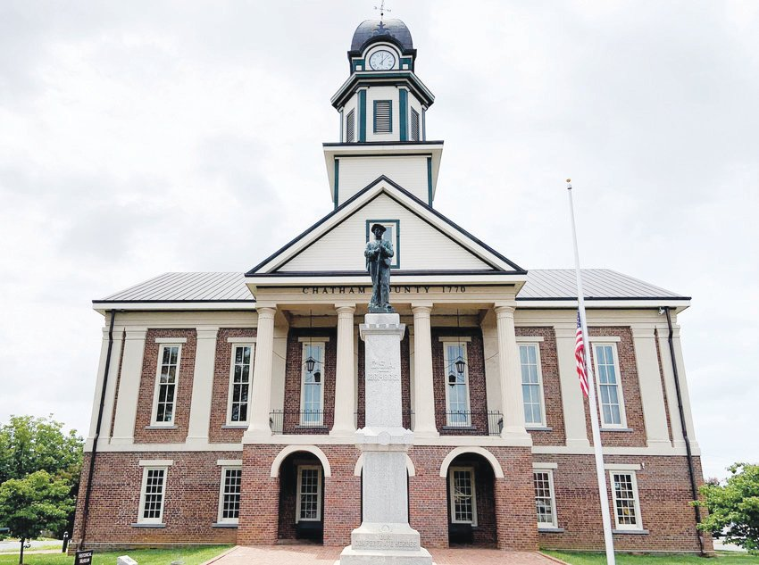 Erected in 1907, the Confederate monument that stood in front of the Chatham County Historic Courthouse was removed in November 2019.