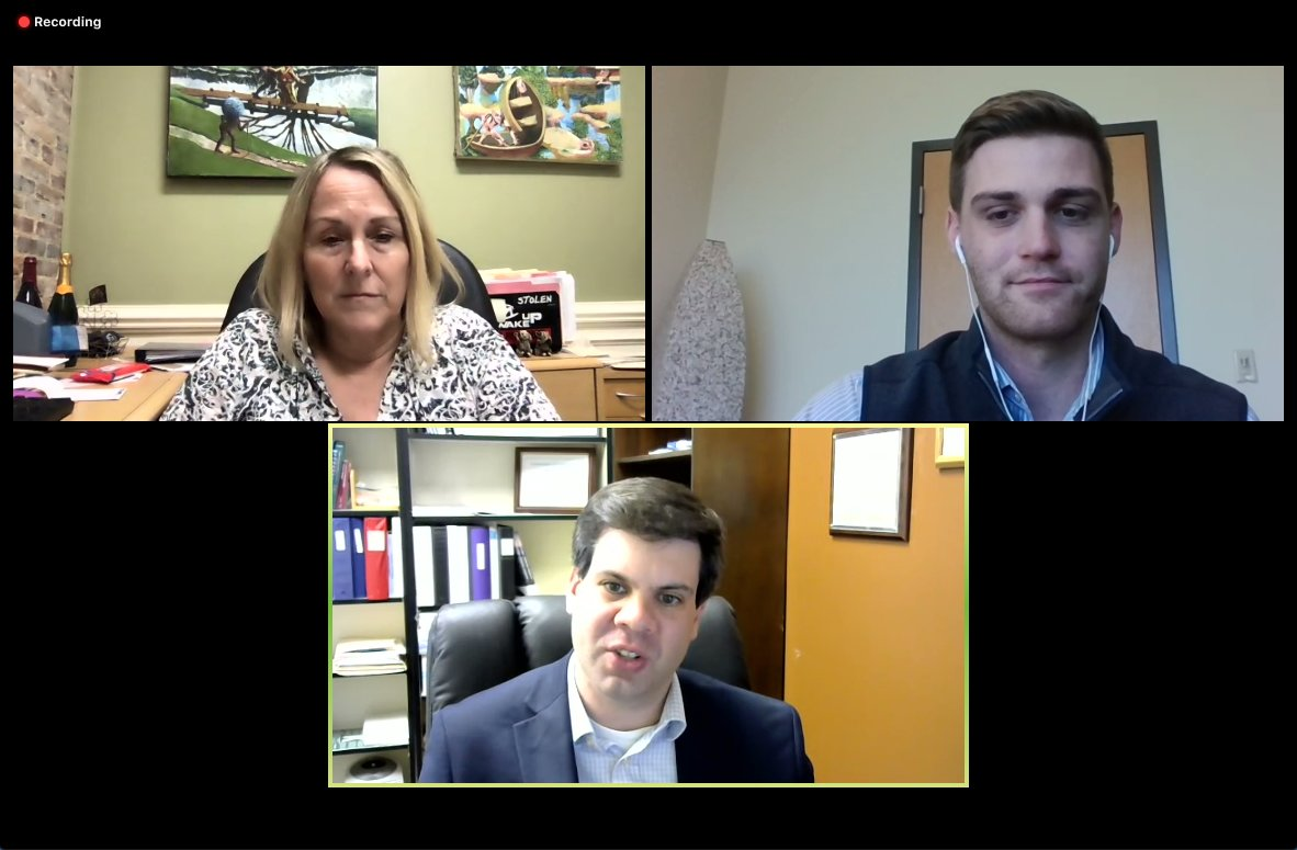 Public Health Director Mike Zelek, lawyer Kathie Russell and Chatham EDC Project Manager Sam Rauf led a webinar for Chatham employers last Thursday.