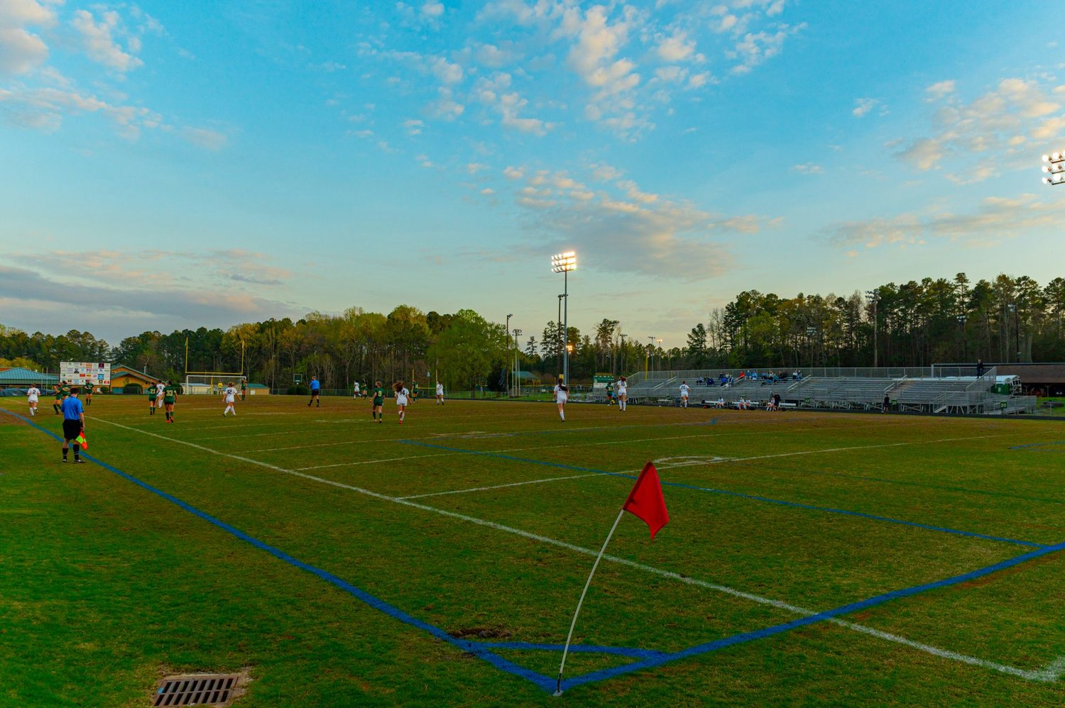 Northwood and East Chapel Hill faced off in women's soccer on March 30 in Pittsboro. East Chapel Hill won, 2-0, but had to work hard against a Northwood team that kept things close for much of the night.