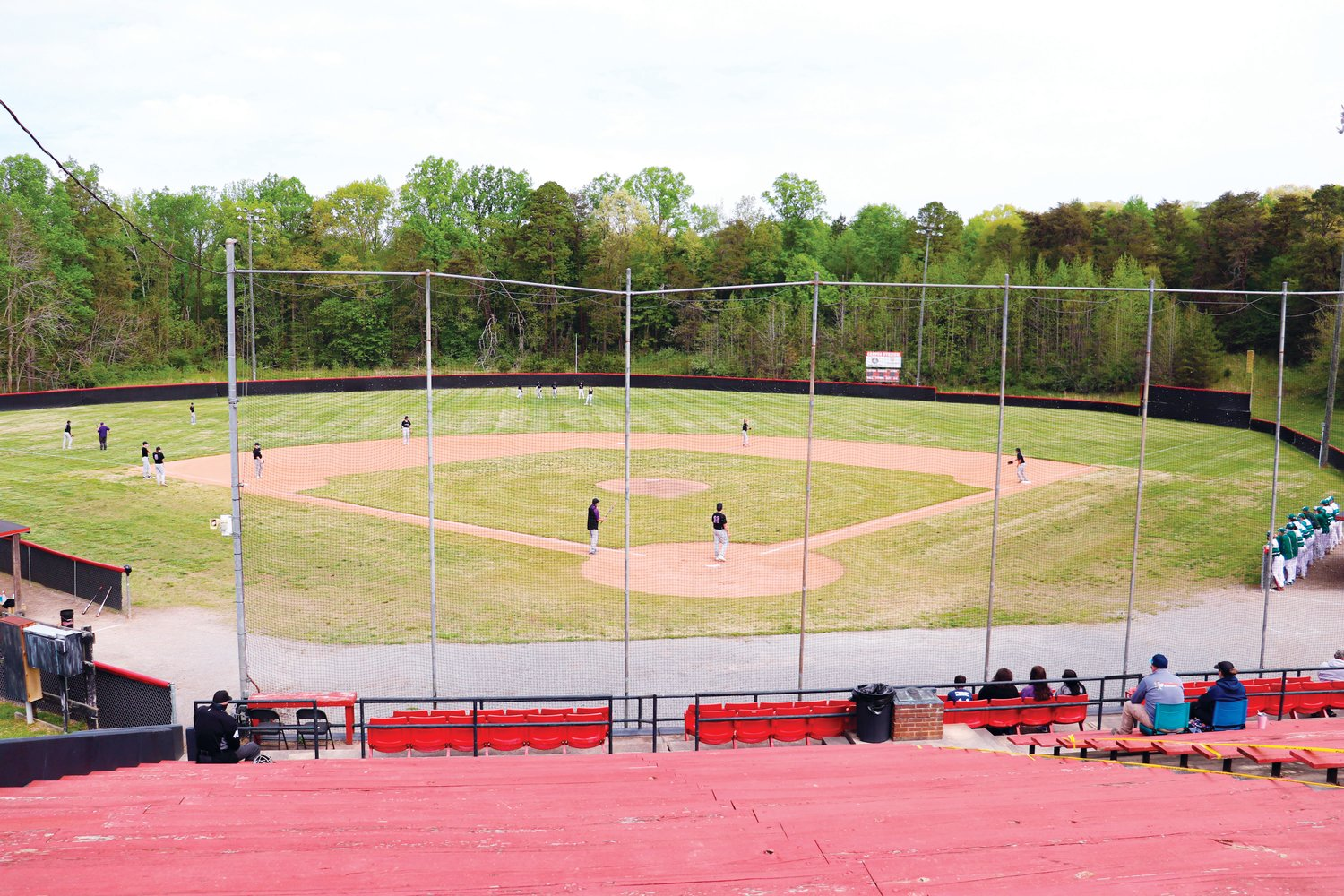The view of Craven Field in Ramseur ahead of Chatham Charter's baseball scrimmage with North Moore during the Grady Lawson Memorial Baseball Tournament on Saturday. Two games were played at Craven; the other two at Eastern Randolph High School; with all proceeds going toward the Grady Lawson Memorial Scholarship Fund.