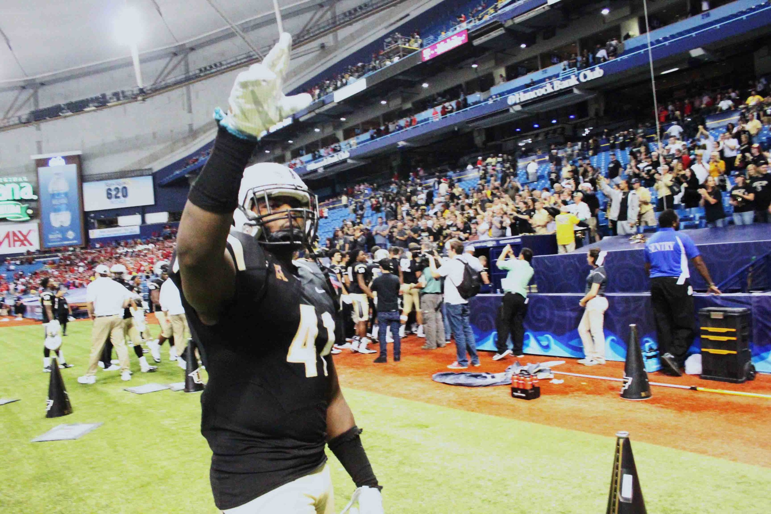Orange Park High football standout Terrance Plummer had his final game in St. Petersburg at the Bitcoin St. Petersburg Bowl against North Carolina State. Plummer is with the NFL's Minnesota Vikings.