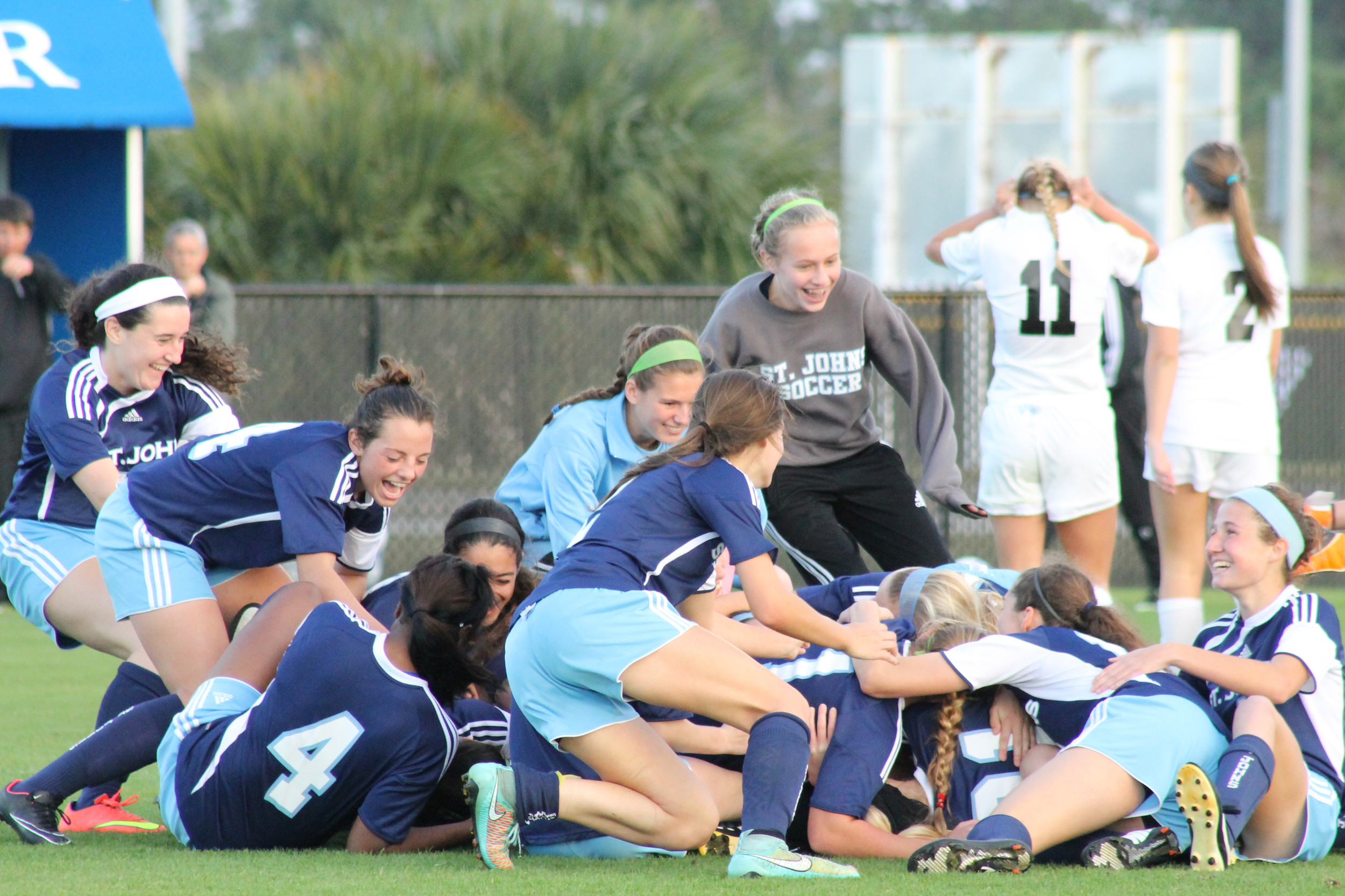 St. Johns Country Day School won an unprecedented fourth straight soccer title in Class 1A. With an unbeaten record thus far and a win over Ponte Vedra in the recent St. Johns Showdown, coach Mike Pickett has the troops to pull off yet another title.
