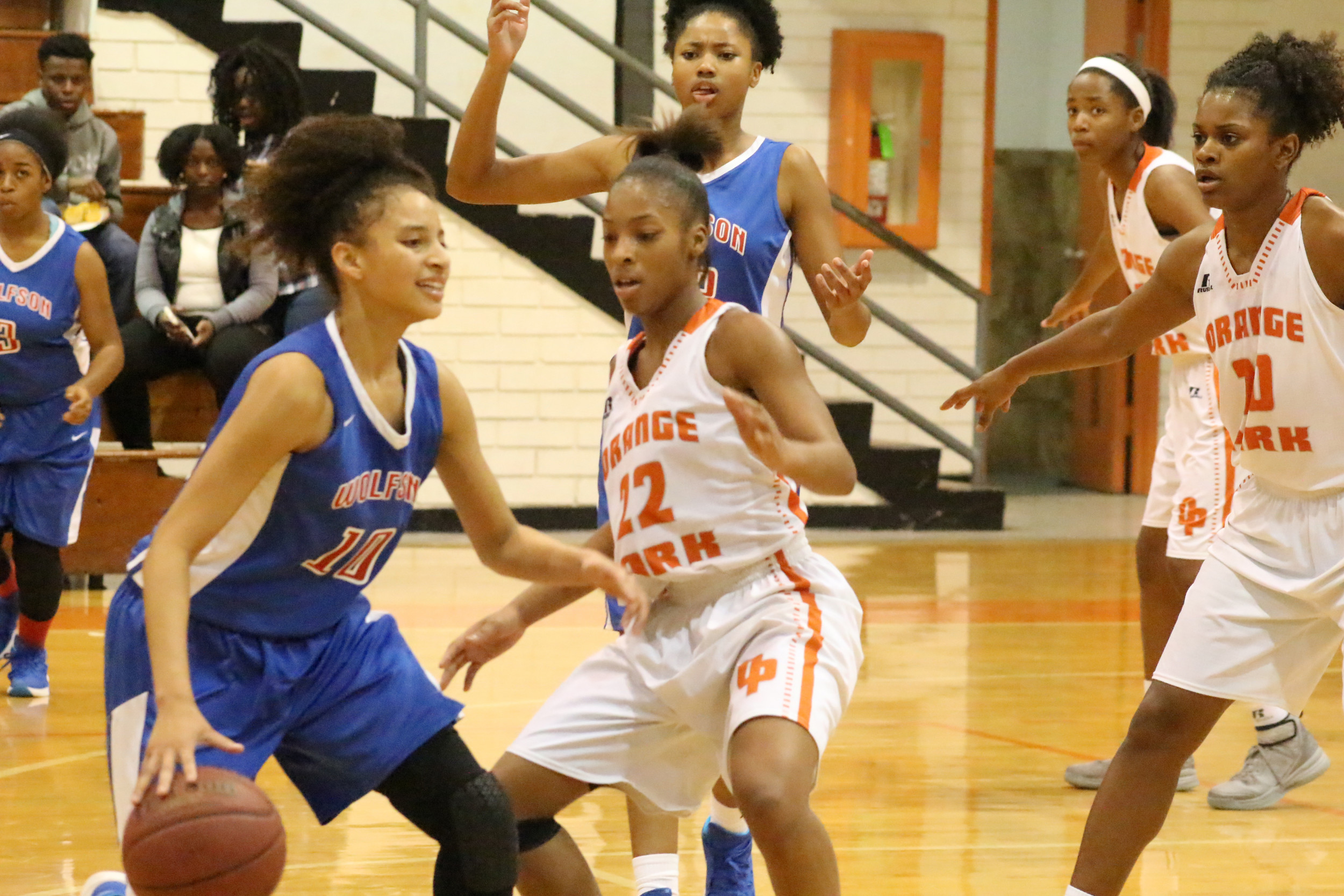 Orange  Park senior guard Maxine Knox has been a steal threat for enemy point guards as the Lady Raiders enter the district 4-5A tournament as top seeded team.