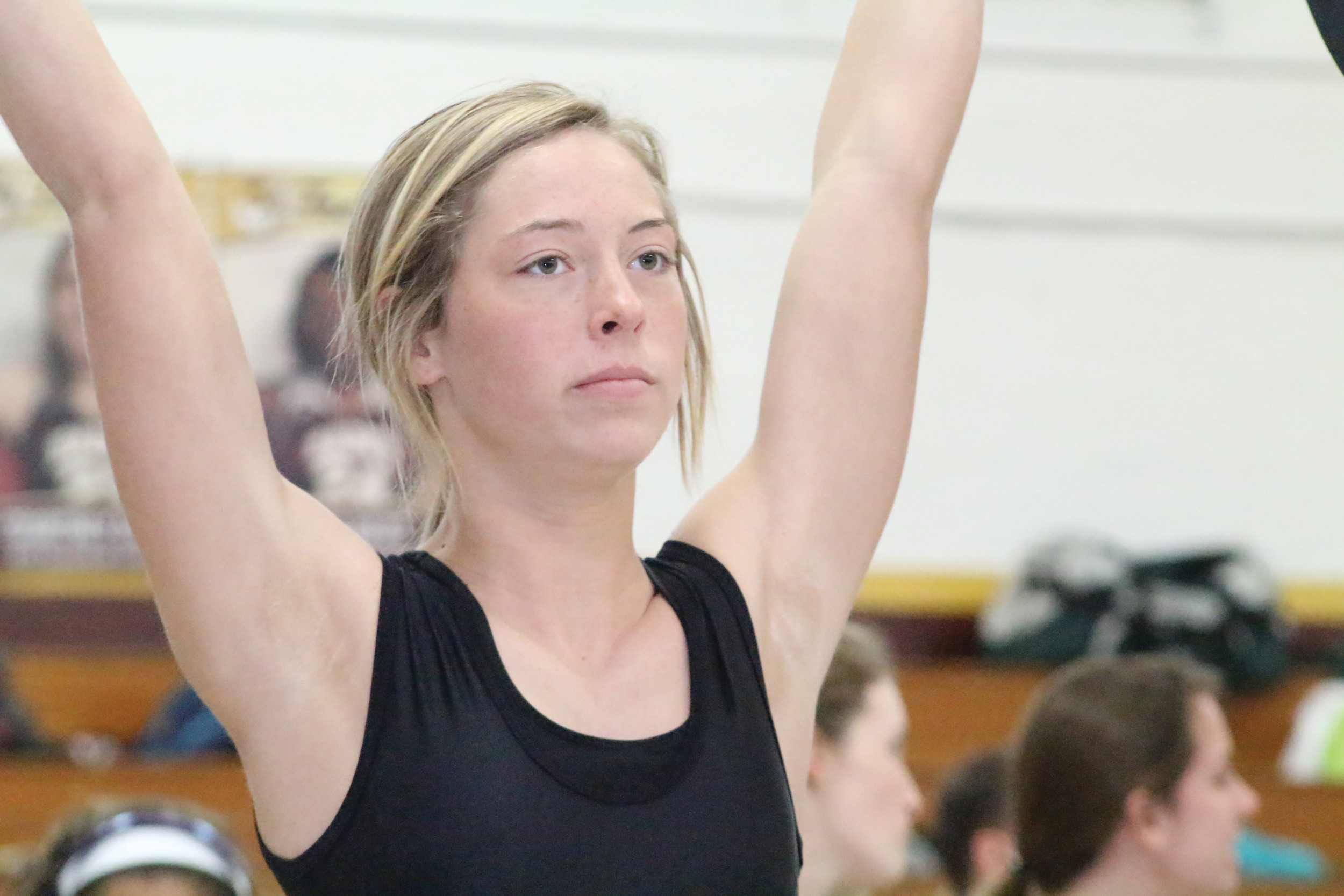 Middleburg High's Emma Weiskopf has become a force to be aware of with her 15 pound winning margin over Oakleaf's Selena Shore in the 119 pound division.