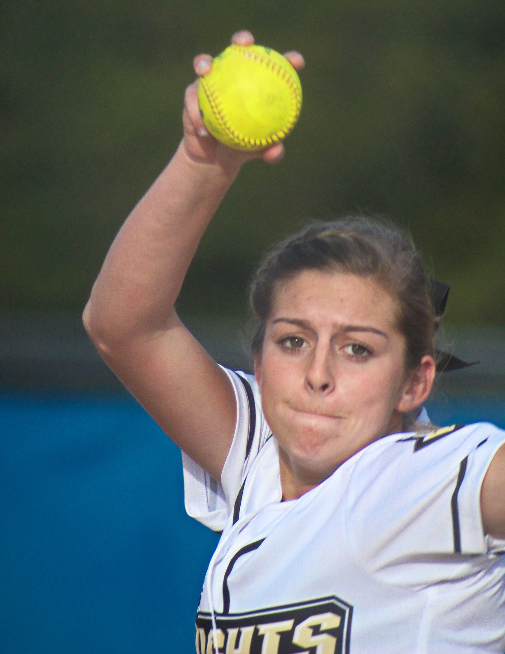 Oakleaf High junior pitcher Kelsey Sweatt is big arm for Lady Knights who will be returning much of last year's Final Four team for another shot at a state title, this time in Class 7A.