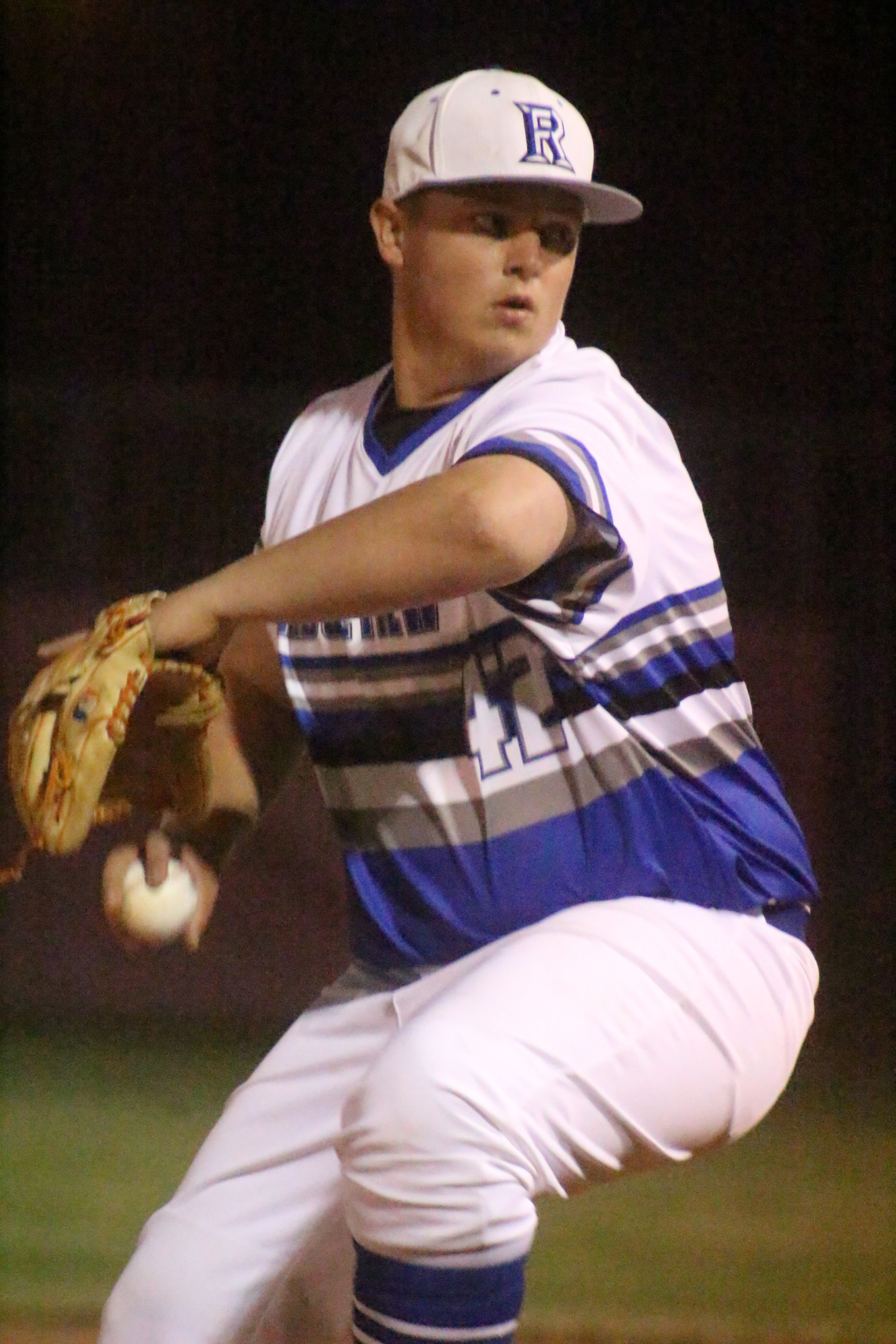 Ridgeview High pitcher Tyler Robison was powertosser in 11-strikeout night against Middleburg in 5-2 Panther win.